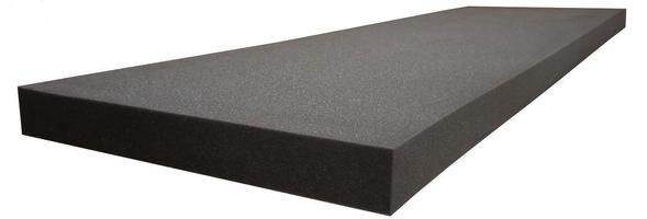 "Regular Density Charcoal Cushion Replacement Upholstery Foam Sheet 1/2""x 24""x 72"