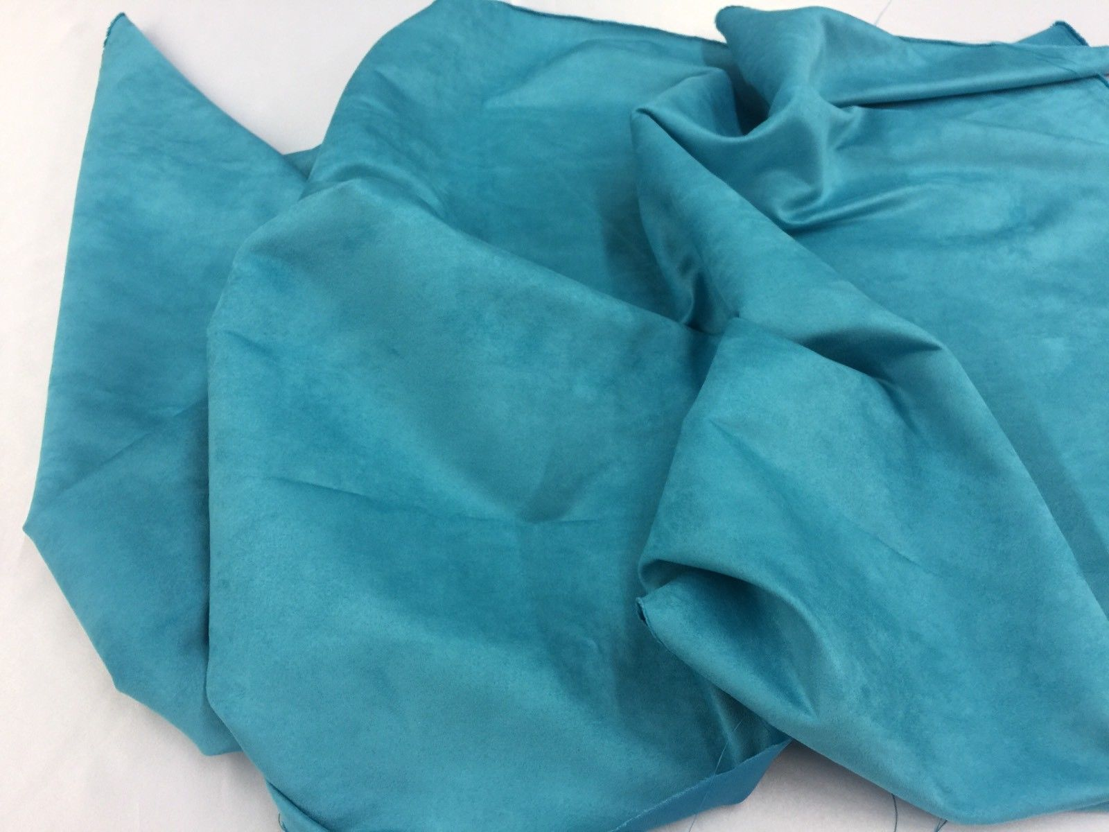 Microfiber Suede Fabric Upholstery Turquoise By Yard - KINGDOM OF FABRICS