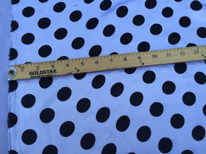 White/black 1/2inch Polka Dot Silky/soft Charmeuse Satin Fabric. (20 Yards) - KINGDOM OF FABRICS