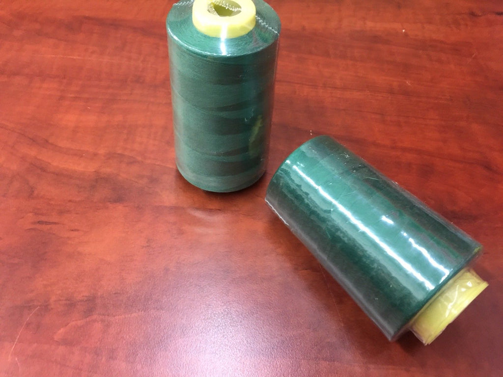 2 PACK of 6000 Yard Spools Dk Green Sewing Thread All Purpose 100% Spun Poly - KINGDOM OF FABRICS