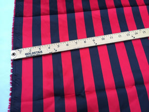 Red/Black 1inch Stripe Soft/silky Charmeuse Satin Fabric. (20 Yards). - KINGDOM OF FABRICS