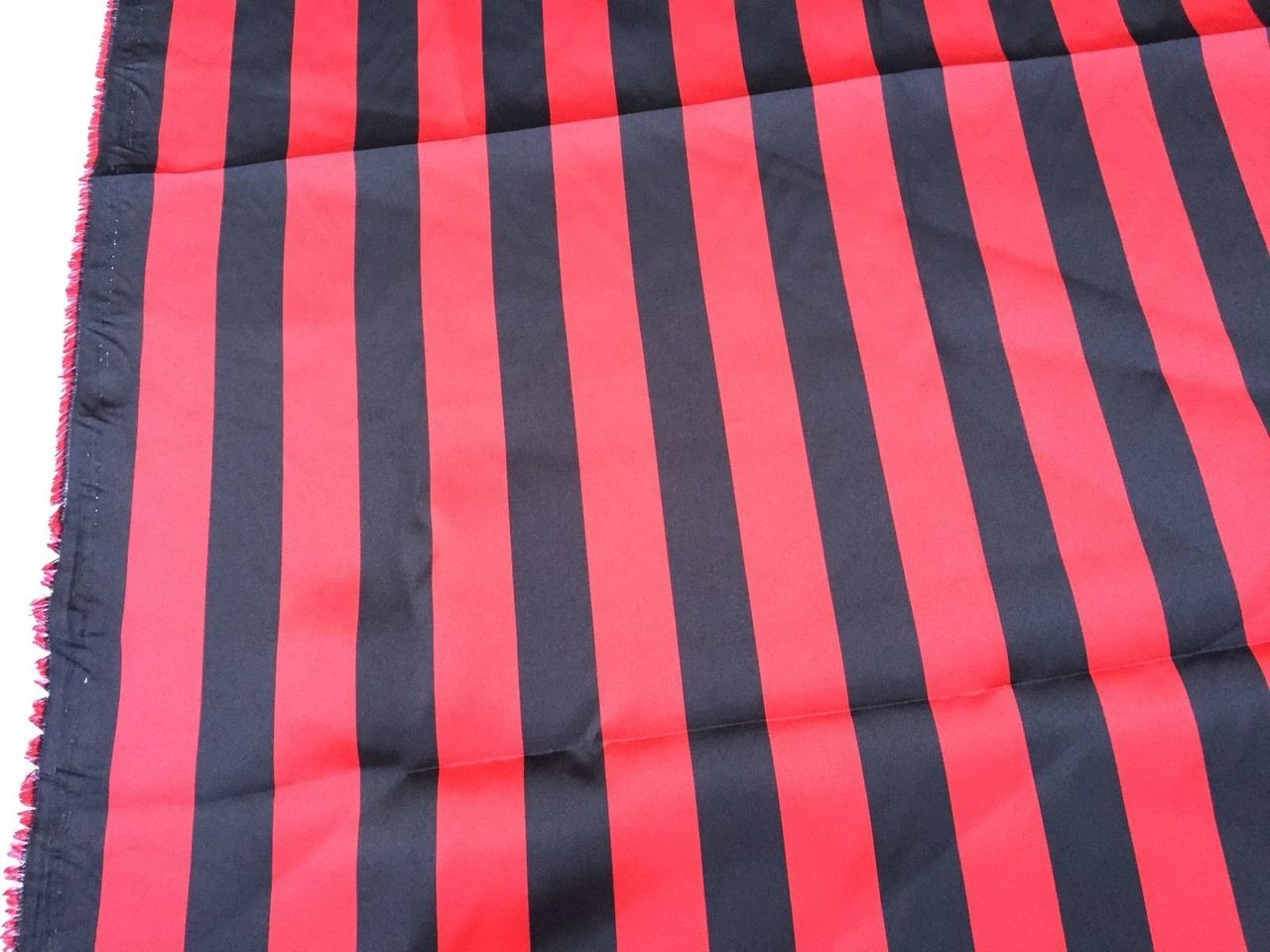 Red/black 1inch Stripe Soft/silky Charmeuse Satin Fabric. Sold By The Yard. - KINGDOM OF FABRICS