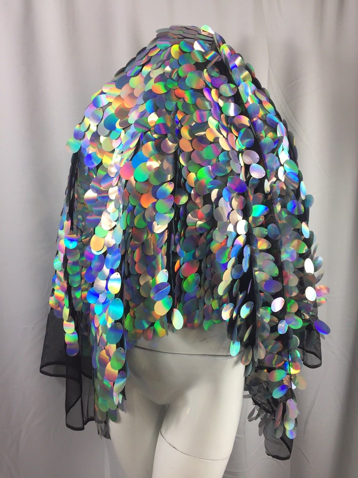 Hologram Sequins Fabric By The Yard Mesh Lace Multi-color 45 Inches Decoration - KINGDOM OF FABRICS