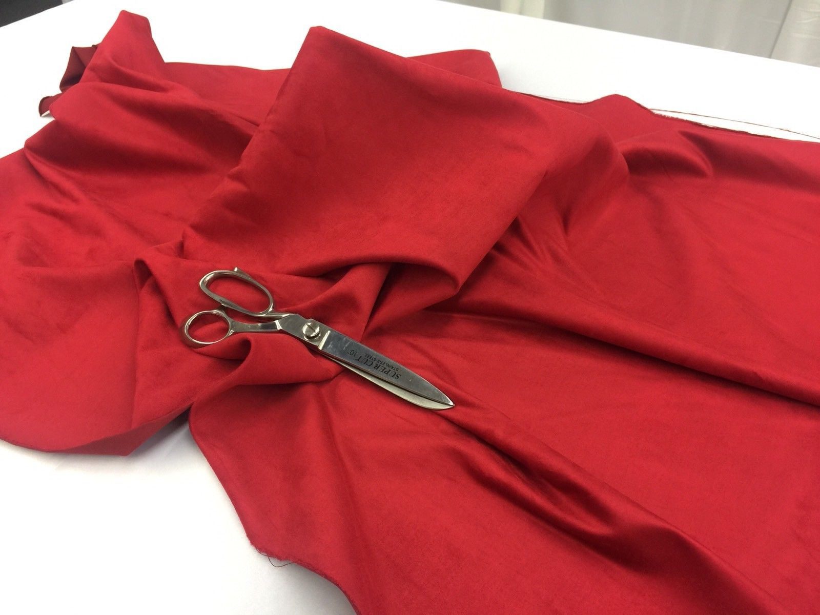 Microfiber Suede Fabric Upholstery Red By Yard - KINGDOM OF FABRICS