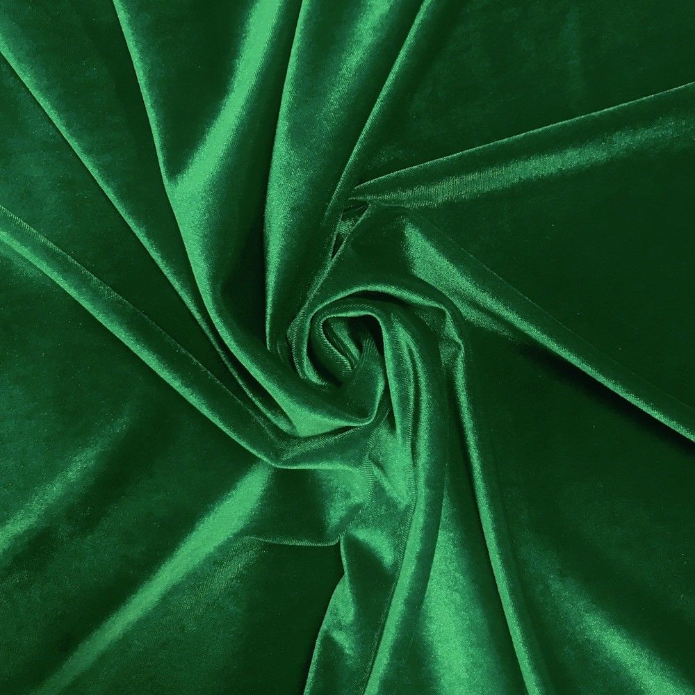 Stretch Velvet Fabric Kelly Green Fabric Velvet Fabric By The Yard Sewing Fabric - KINGDOM OF FABRICS
