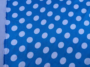 Turquoise/white 1/2inch Polka Dot Silky/soft Charmeuse Satin Fabric. 20 Yards. - KINGDOM OF FABRICS