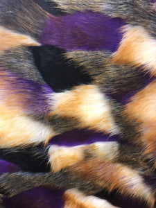 Majestic Design Faux Fur Fabric Multi Color Purple Top Luxury. Sold By Yard - KINGDOM OF FABRICS