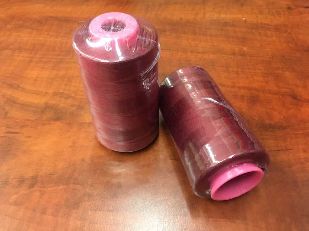 2 PACK of 6000 Yard Spools Burgundy Sewing Thread All Purpose 100% Spun Poly - KINGDOM OF FABRICS