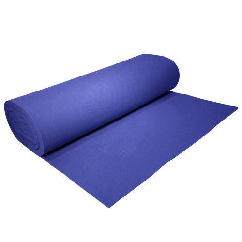 "Solid Acrylic Felt Fabric -ROYAL - Sold By The Bolt - 72"" Width ( 20 yards ) - KINGDOM OF FABRICS"