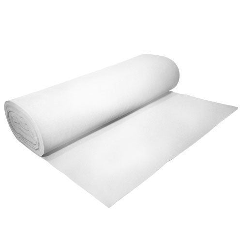"Solid Acrylic Felt Fabric -WHITE - Sold By The Bolt - 72"" Width ( 20 yards ) - KINGDOM OF FABRICS"