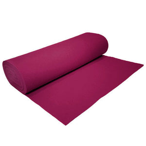 "Solid Acrylic Felt Fabric -FUSCHIA - Sold By The Bolt - 72"" Width ( 20 yards ) - KINGDOM OF FABRICS"