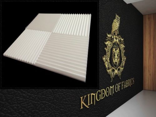 "Kingdom Acoustic Foam White Wedge 1""X 12""X 12"" SoundProofing/Blocking (48 Pack )"