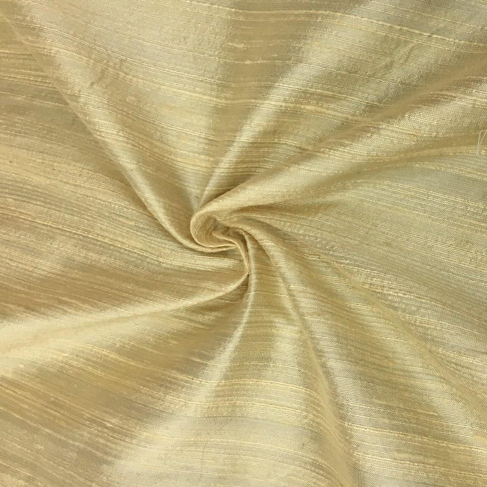 "Yellow 100% Pure Silk Dupioni Fabric 54""Wide BTY Drape Blouse Dress Craft Sold By The Yard."
