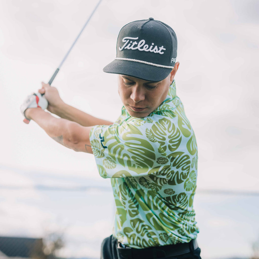 Tropical Bliss Sublimated Golf Shirt - Made in the USA 🇺🇸