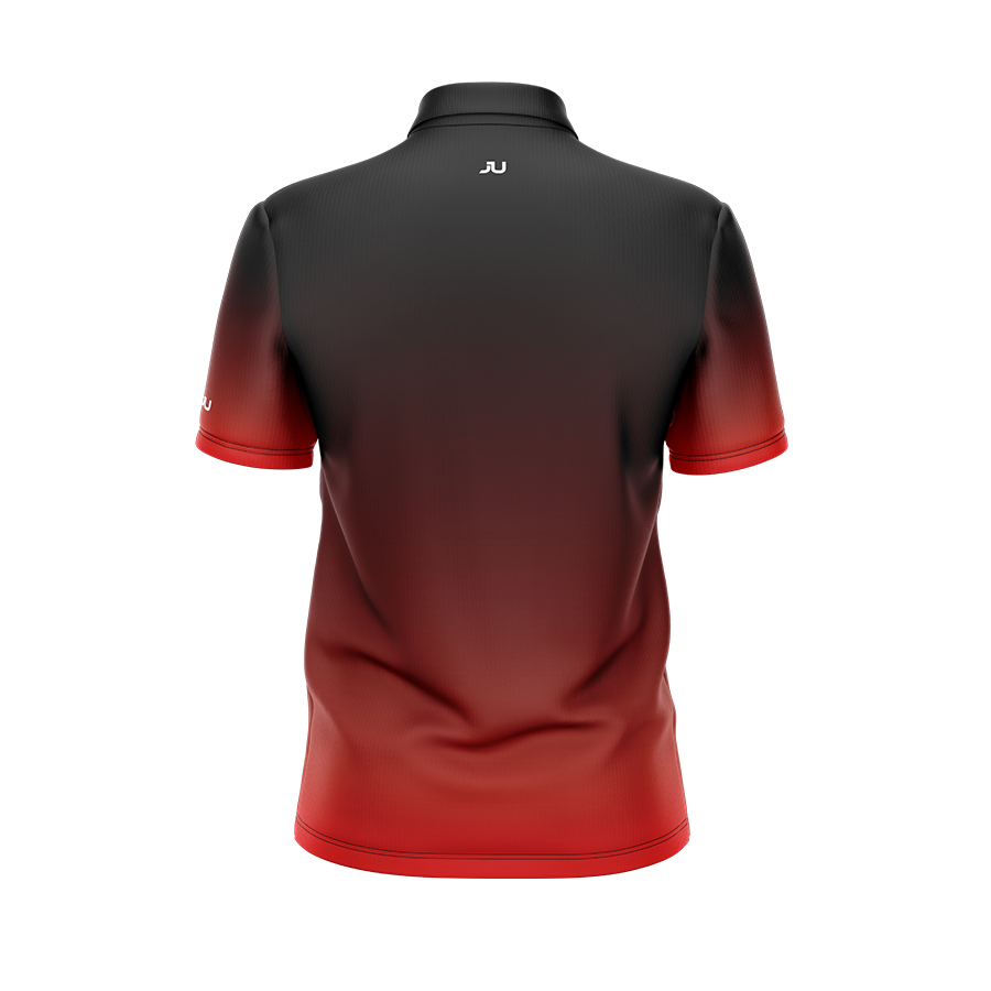 Black to Red Men's Sublimated Jersey - Made in the USA 🇺🇸