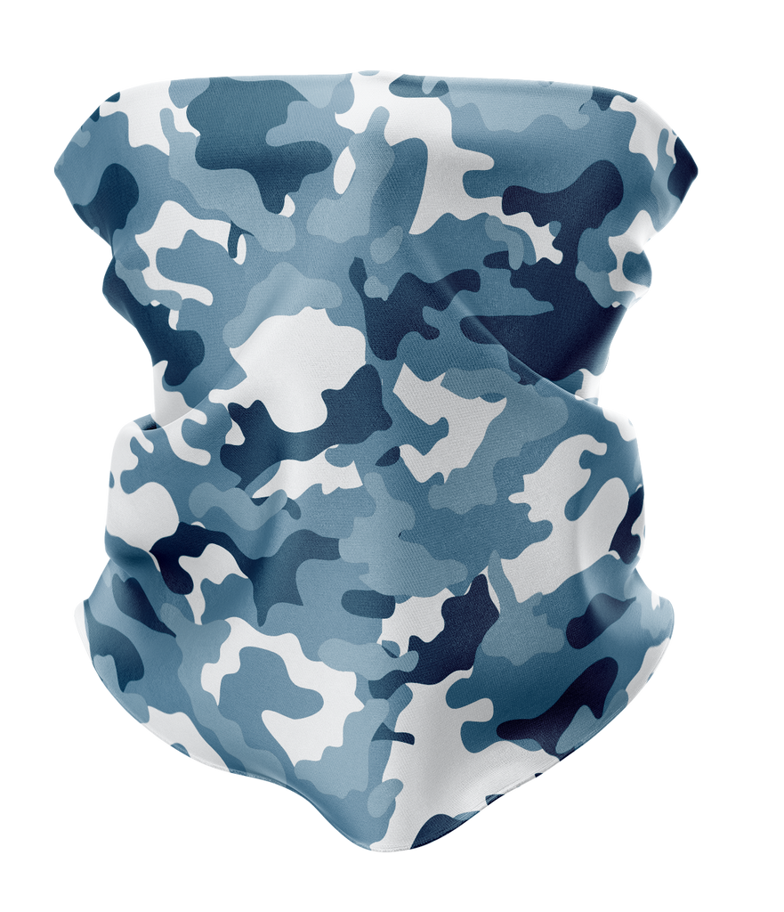 Blue Camo Neck Gaiter - MADE IN THE USA 🇺🇸🇺🇸