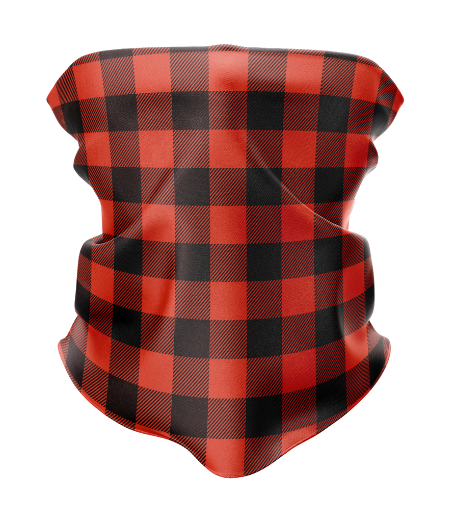 Buffalo Plaid Neck Gaiter - MADE IN THE USA 🇺🇸🇺🇸