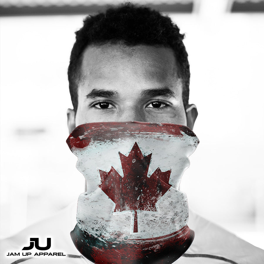Canadian Flag Neck Gaiter - MADE IN THE USA 🇺🇸🇺🇸