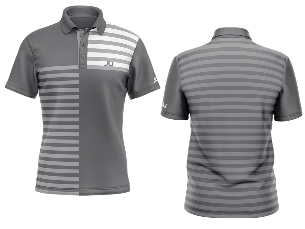 PREORDER: The Crosswalk Gray Sublimated Golf Shirt - Made in the USA 🇺🇸