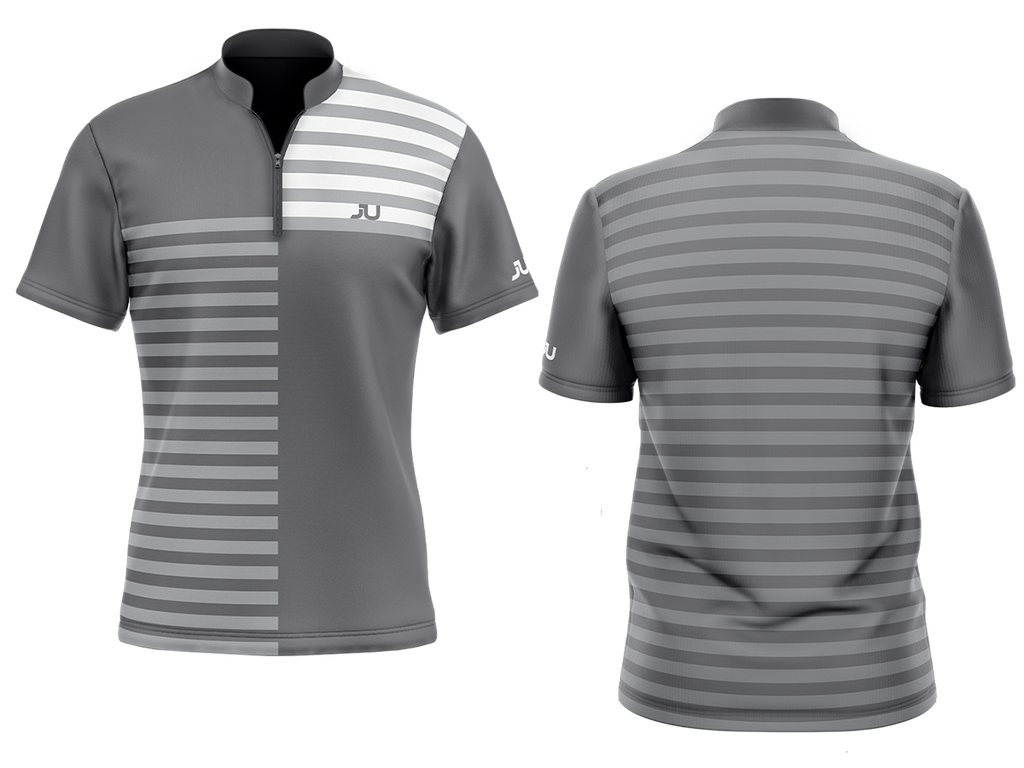 The Crosswalk Gray Sublimated Golf Shirt - Made in the USA 🇺🇸
