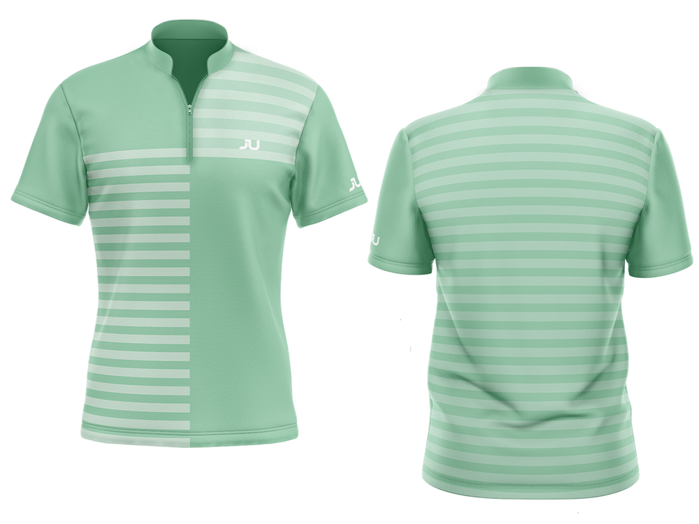The Crosswalk Mint Sublimated Golf Shirt - Made in the USA 🇺🇸