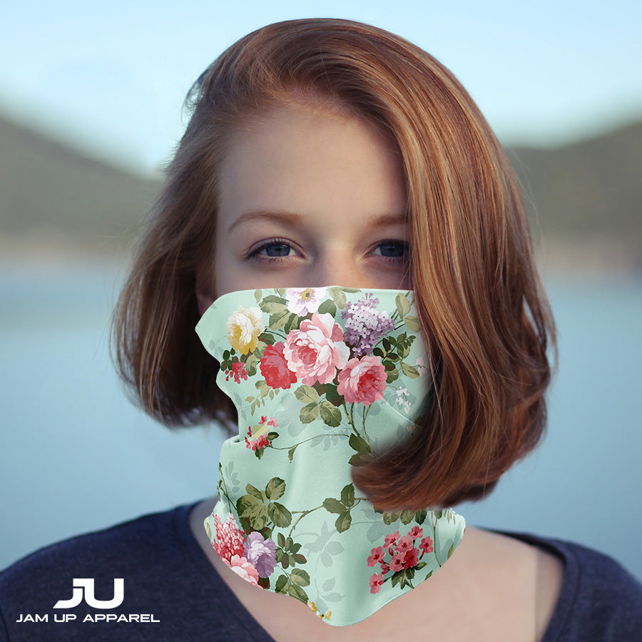 Floral Neck Gaiter - MADE IN THE USA 🇺🇸🇺🇸