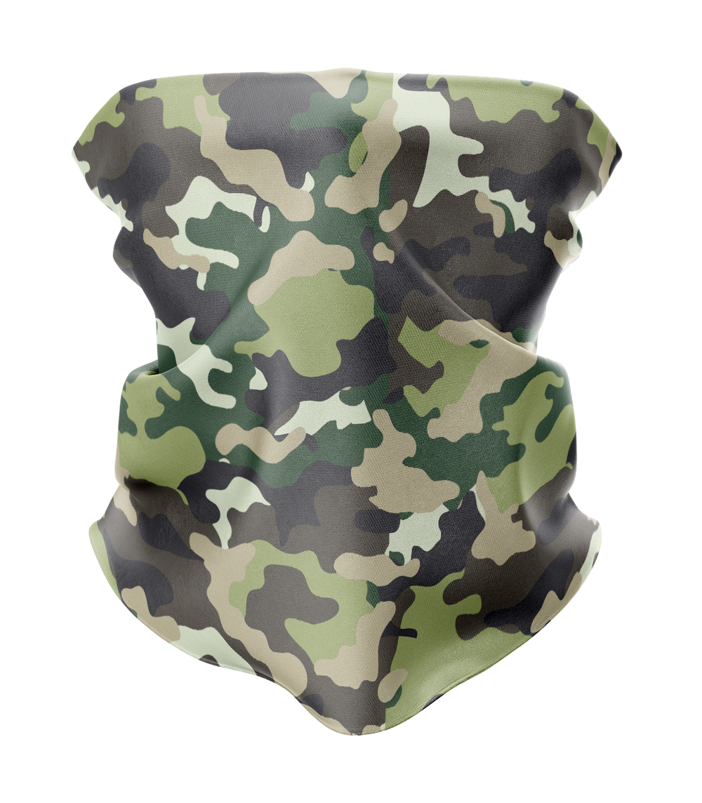 Green Camo Neck Gaiter - MADE IN THE USA 🇺🇸🇺🇸