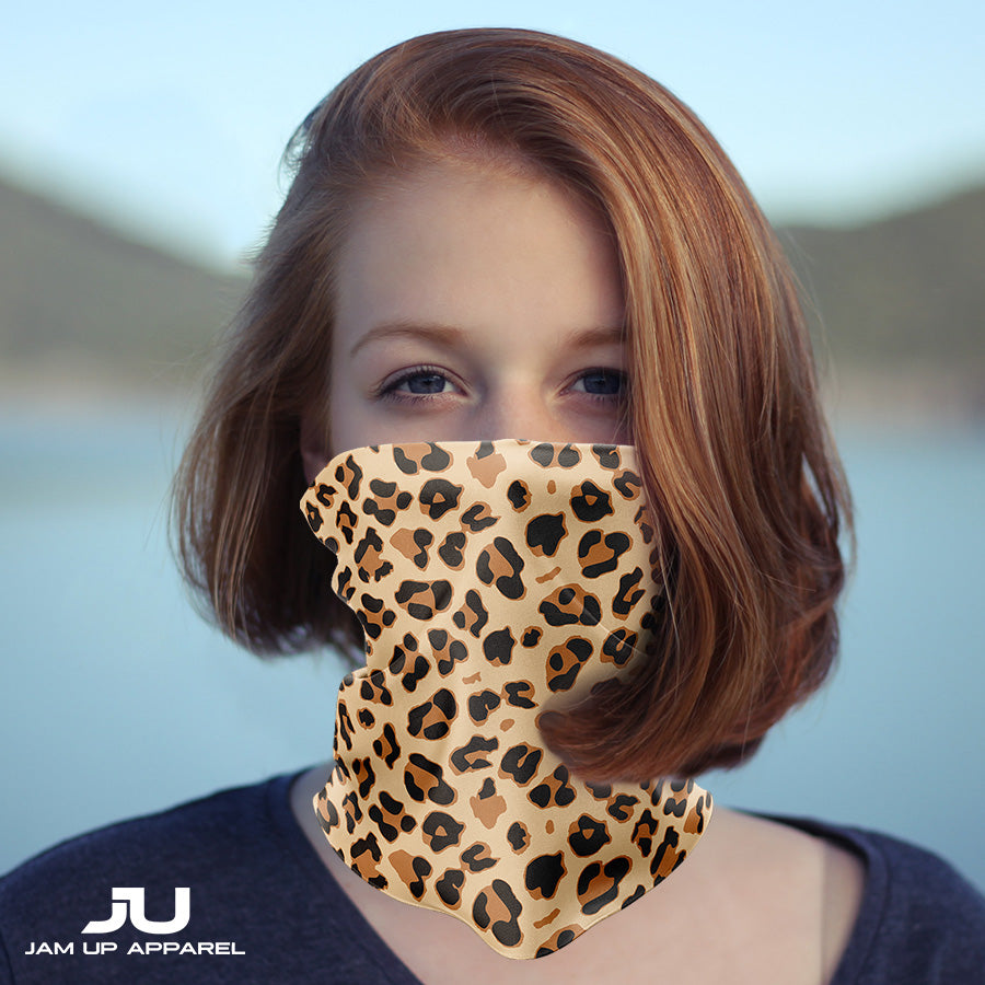 Leopard Neck Gaiter - MADE IN THE USA 🇺🇸🇺🇸