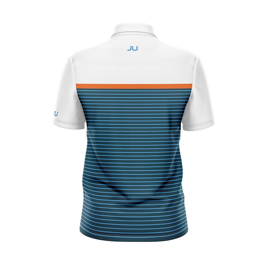 Navy Orange Stripes Men's Sublimated Jersey - Made in the USA 🇺🇸
