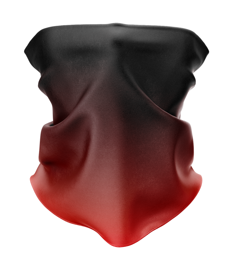 Red Gradient Neck Gaiter - MADE IN THE USA 🇺🇸🇺🇸