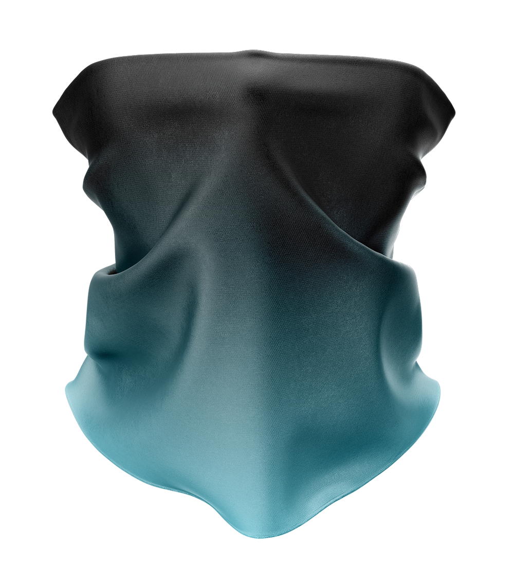 Teal Gradient Neck Gaiter - MADE IN THE USA 🇺🇸🇺🇸