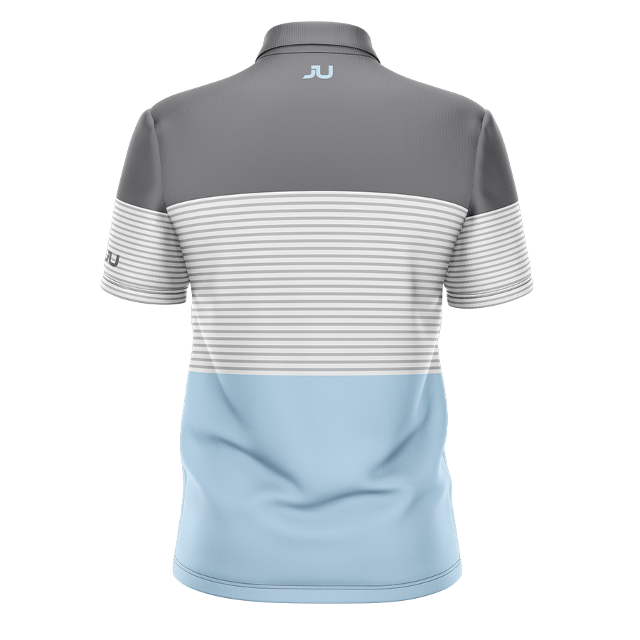 The Blocker Baby Blue Sublimated Golf Shirt - Made in the USA 🇺🇸