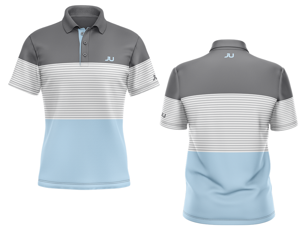 PREORDER: The Blocker Baby Blue Sublimated Golf Shirt - Made in the USA 🇺🇸