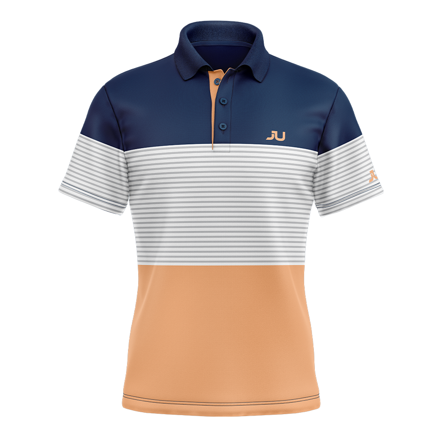 The Blocker Tangerine Sublimated Golf Shirt - Made in the USA 🇺🇸