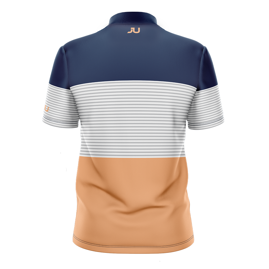 PREORDER: The Blocker Tangerine Sublimated Golf Shirt - Made in the USA 🇺🇸