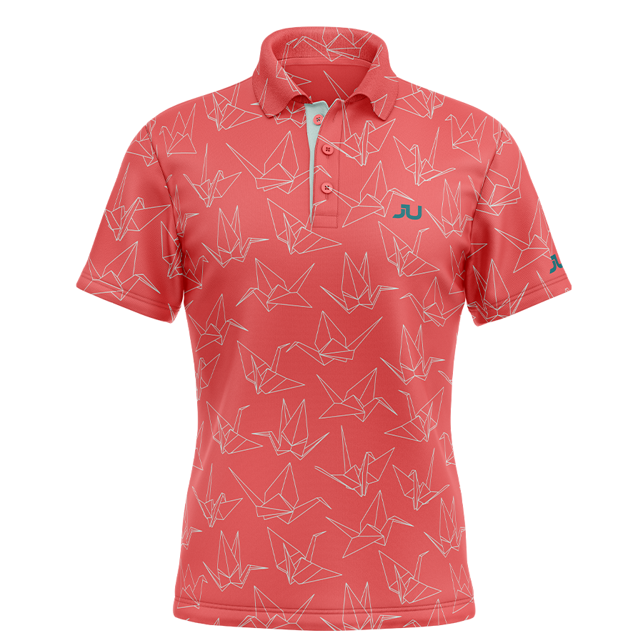 The Crane Sublimated Golf Shirt - Made in the USA 🇺🇸