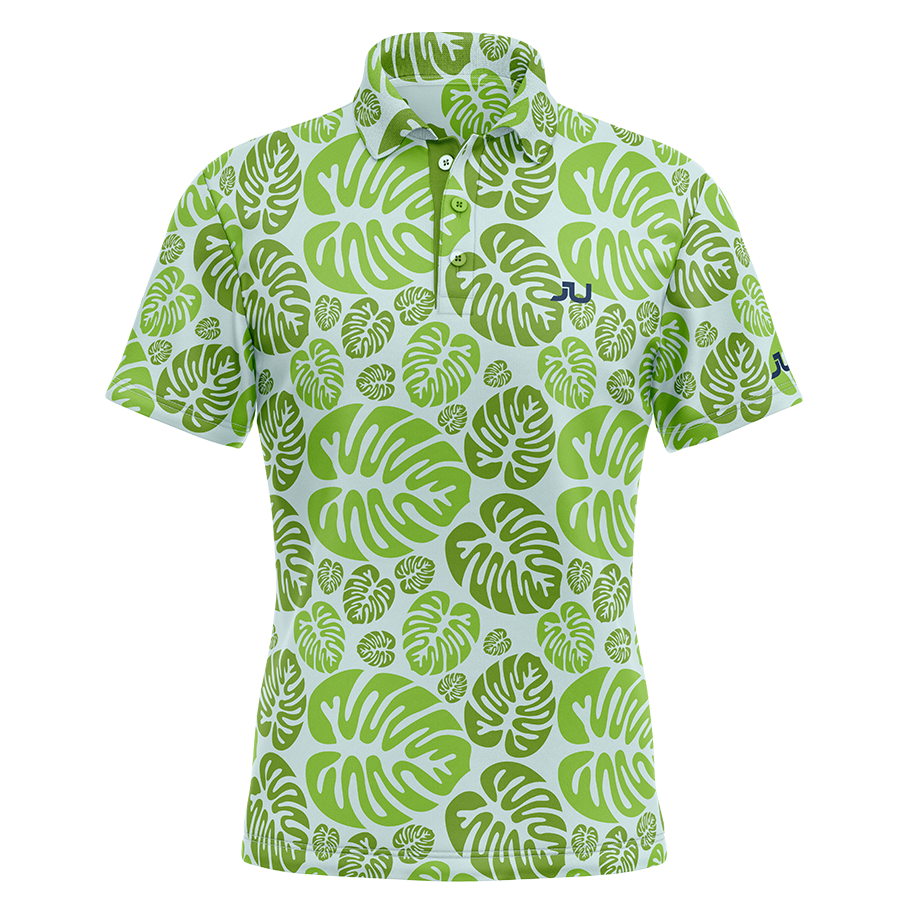 PREORDER: Tropical Bliss Sublimated Golf Shirt - Made in the USA 🇺🇸