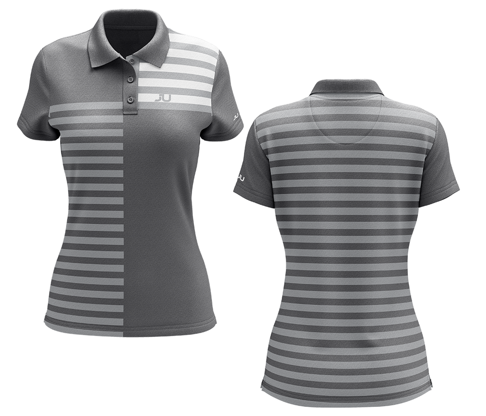 The Crosswalk Gray Women's Sublimated Golf Shirt - Made in the USA 🇺🇸