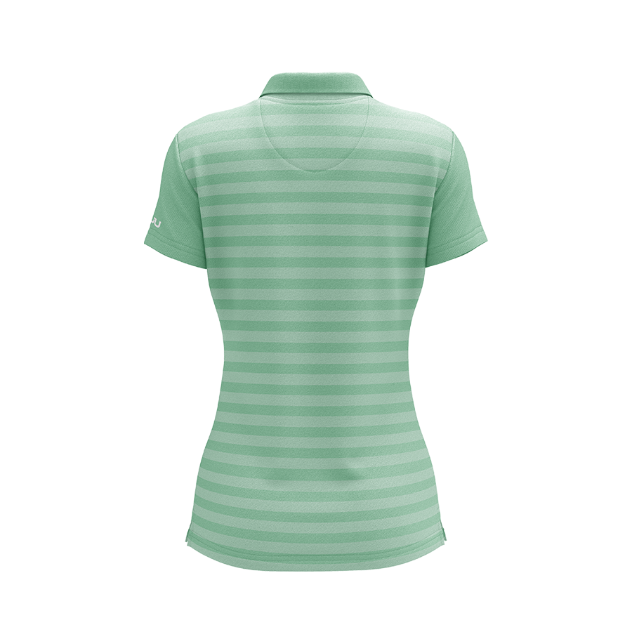 The Crosswalk Mint Women's Sublimated Golf Shirt - Made in the USA 🇺🇸
