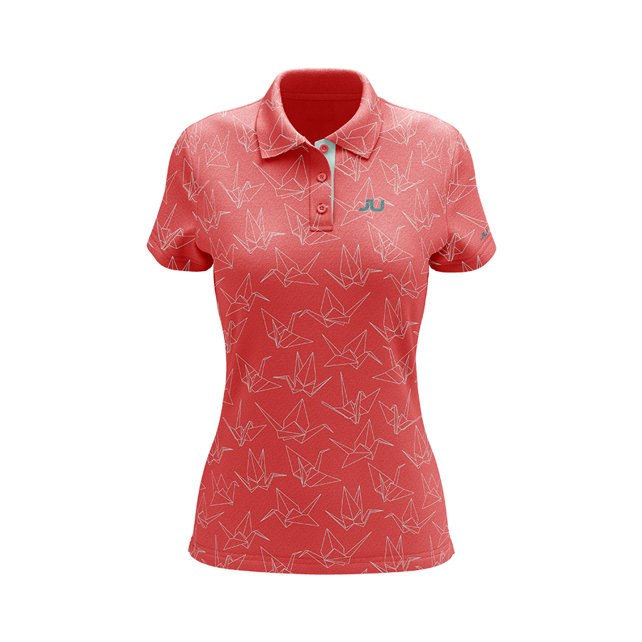 The Crane Women's Sublimated Golf Shirt - Made in the USA 🇺🇸