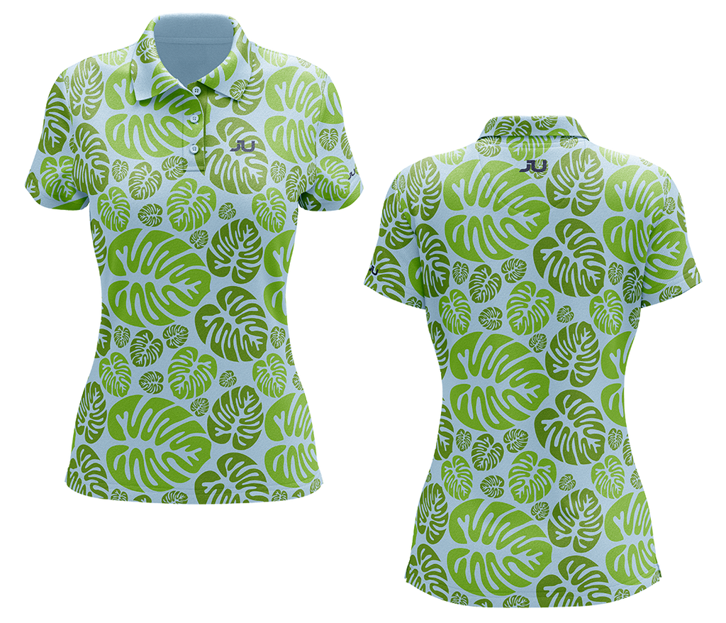 Tropical Bliss Women's Sublimated Golf Shirt - Made in the USA 🇺🇸