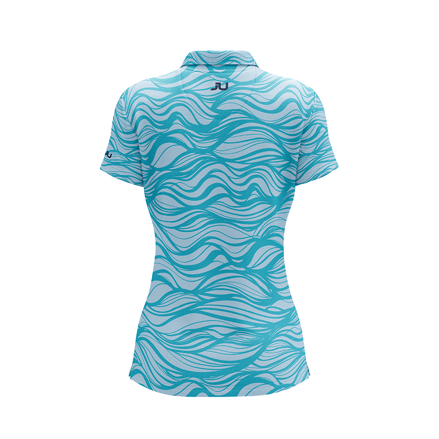 The Waver Women's Sublimated Golf Shirt - Made in the USA 🇺🇸