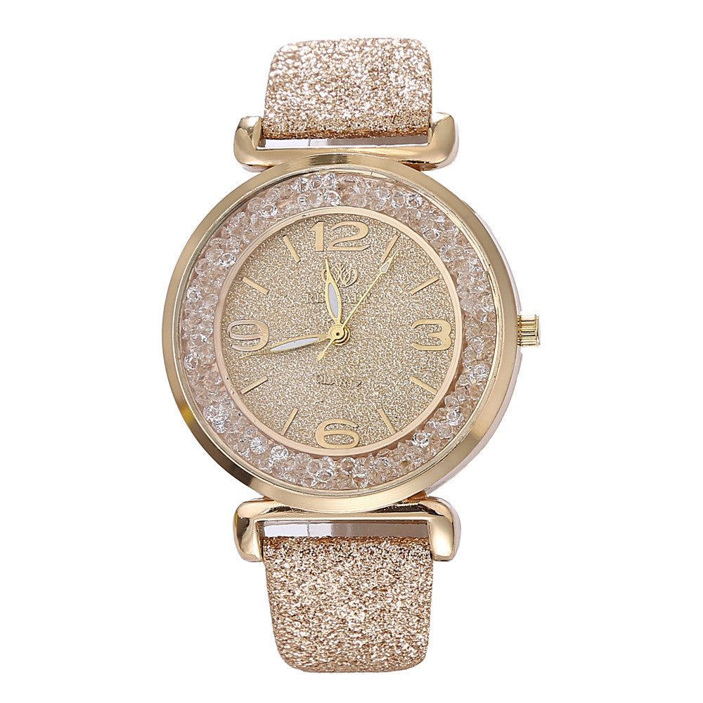 Luxury Crystal Rhinestone Stainless Steel Wrist Watch