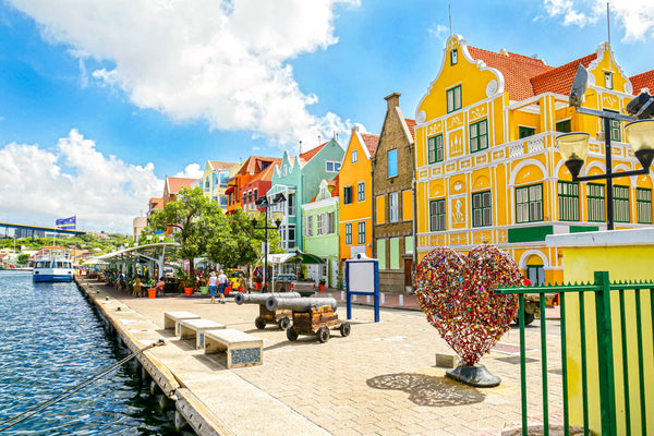 Curacao Willemstad Colorful Buildings