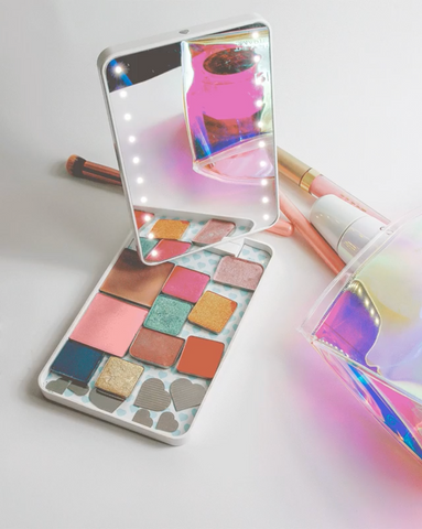 RIKI COLORFUL: magnetic makeup palette lighted mirror
