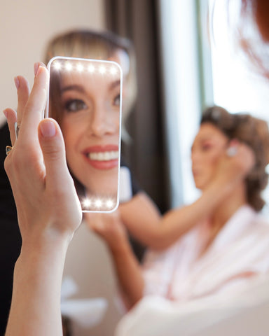 portable makeup led lighted mirror