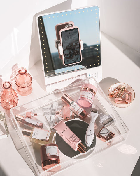 RIKI lighted mirror for skincare and makeup routine