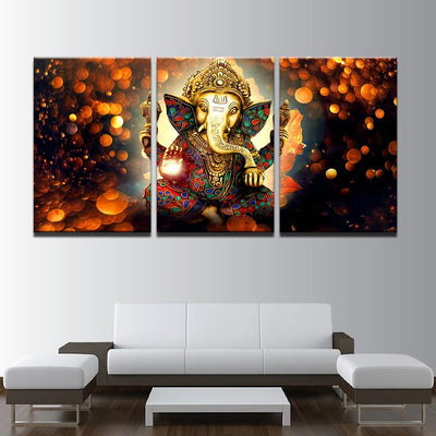 The Hindu Lord Ganesh - 3 Panels Edition