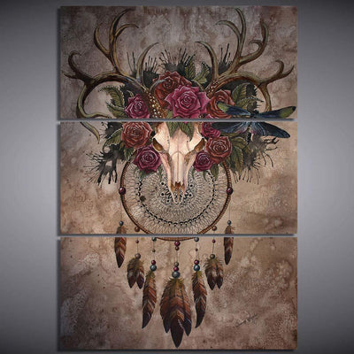 Deer Skull Dreamcatcher
