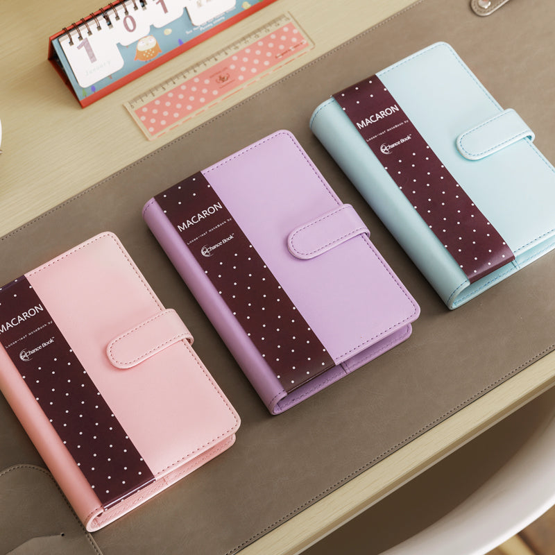 Cute Macaron Faux Leather Spiral Notebook A5 A6 Lined